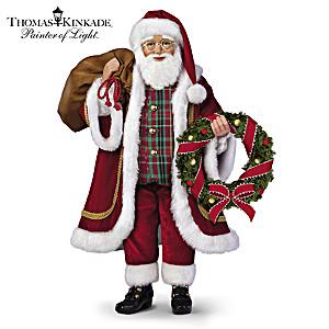 Poseable Thomas Kinkade Santa Doll With Lights And Music
