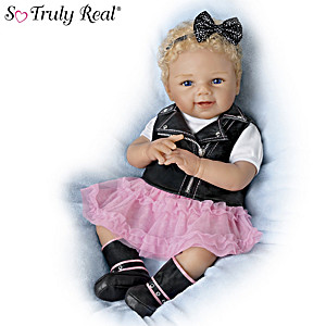 """Sherry Rawn """"Haley's Born To Ride"""" So Truly Real Baby Doll"""