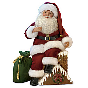 "Karen Vander Logt ""Up On The Housetop"" Musical Santa Doll"