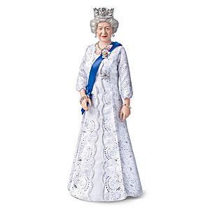 Queen Elizabeth II 95th Birthday Porcelain Portrait Doll