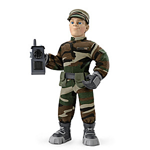 """Military Max"" Poseable Plush Action Figure For Kids"
