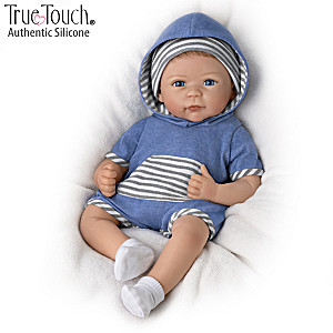 "Linda Murray ""Caleb"" Lifelike Silicone Baby Boy Doll"