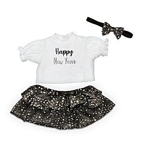 "New Year's Baby Doll Outfit Set For 17"" To 19"" Dolls"