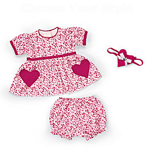 "3-Piece Baby Doll Outfit For Dolls 17"" - 19"" Long"