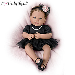 "Linda Murray ""Lily's Little Black Dress"" Poseable Baby Doll"