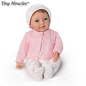 "Tiny Miracles Little Ellie Lifelike 10"" Toy Doll"