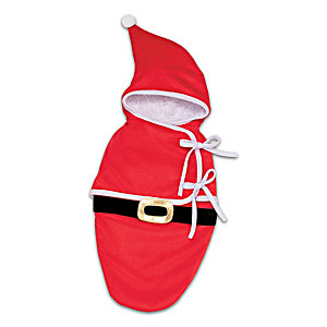 Red Velour Santa Bunting For Baby Dolls Up To 19""