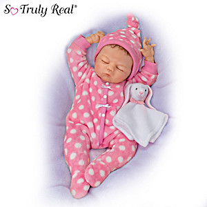 "Violet Parker ""Cozy And Cute Caroline"" Lifelike Baby Doll"