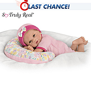 "Violet Parker ""Cuddle Cutie"" Baby Doll With Pillow"