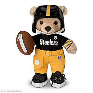 Pittsburgh Steelers Interactive Plush Teddy Bear For Kids