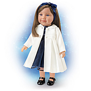Lucy Lifelike 18-Inch Child Doll With 5-Piece Party Ensemble