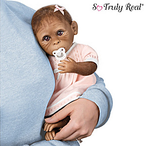 """Milly"" So Truly Real Monkey Doll With Pacifier"