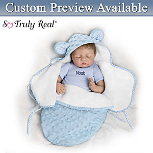 "Bonnie Chyle ""Baby Of Mine Blue Bear"" Personalized Baby Doll"