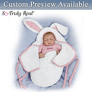 "Bonnie Chyle ""Baby Of Mine White Bunny"" Personalized Doll"