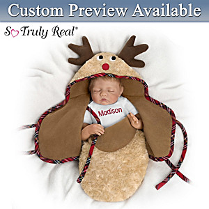 "Bonnie Chyle ""Baby Of Mine Reindeer"" Personalized Doll"