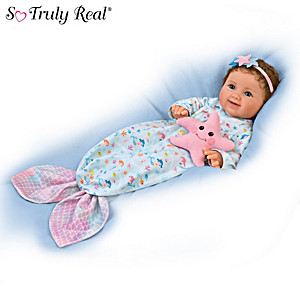 "P. Lau ""Precious Pearl"" Baby Doll With Mermaid Sleeper"