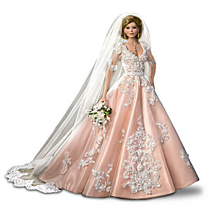 "Cindy McClure ""Blushing Bride"" Porcelain Bride Doll"