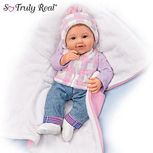 "P. Lau ""Happy Camper"" Baby Doll With Fleece Sleeping Bag"