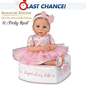 Linda Murray Baby Doll With Ottoman And Her Skirt Lights Up