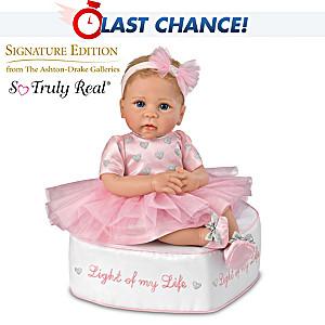 Linda Murray Baby Doll With Ottoman And Her Skirt Lights Up