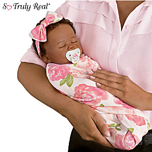 "Marissa May ""Flora"" Baby Doll With Custom Swaddle Blanket"