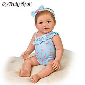 P. Lau Water-Resistant Baby Doll In Swimsuit And Cover-Up