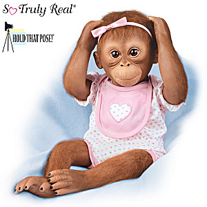 "Ina Volprich ""Sweet Little Margot"" Lifelike Baby Monkey Doll"