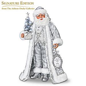"Karen Vander Logt ""Silver Bells"" Musical Santa Claus Doll"