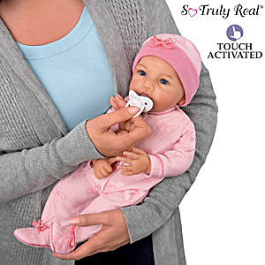 """P. Lau """"Cuddle And Soothe Hannah"""" Crying Doll With Pacifier"""