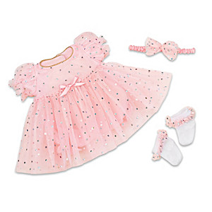 """""""Celebration Dress"""" 3-Piece Outfit For 16"""" - 19"""" Baby Dolls"""