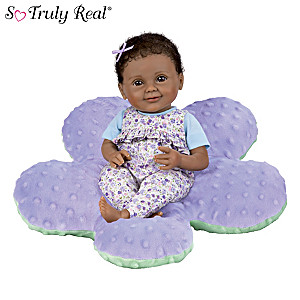 Precious Petals Brianna Baby Doll With Plush Flower Pillow