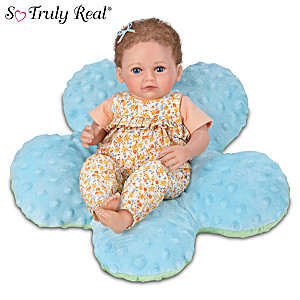 Precious Petals Mia Baby Doll With Plush Flower Pillow