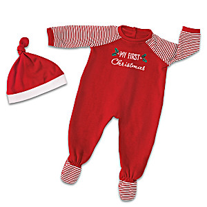 "Christmas PJs Accessory Set For Baby Dolls 17"" - 19"" Long"