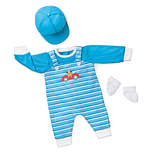 """Playful Pup"" Outfit For Baby Boy Dolls 17"" - 19"" Long"