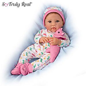 "Linda Murray ""Skylar And Sara"" Baby Doll With Plush Dinosaur"