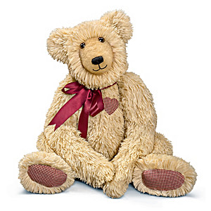 """Heartfelt Hugs"" Plush Teddy Bear With ""Heartbeat"""