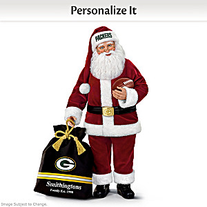 Packers Santa With His Bag Personalized With Your Name