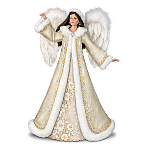 """""""The First Noel"""" Illuminated Musical Angel Portrait Doll"""
