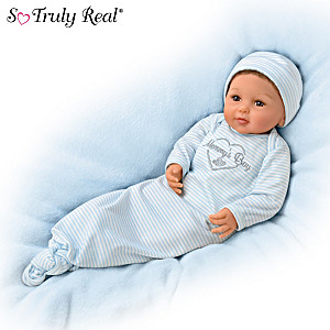 """""""Mommy's Boy"""" Realistic Baby Doll With Magnetic Pacifier"""