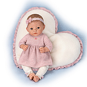 """Musical Molly"" Porcelain Musical Baby Doll Moves Her Head"