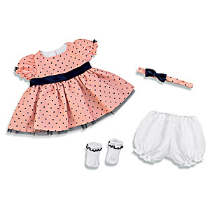 """""""Perfect Party Dress"""" Polka Dot Baby Doll Outfit Set"""