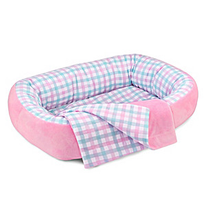 Reversible Pink Bassinet And Matching Blanket