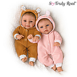 "Sherry Rawn ""Oh Deer! The Twins Are Here!"" Baby Doll Set"