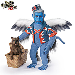 THE WIZARD OF OZ WINGED MONKEY And TOTO Portrait Figure Set