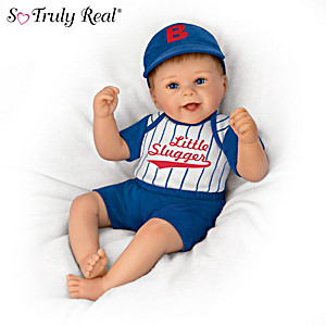 """Sherry Rawn """"Little Slugger, Kyle"""" Baby Doll With Ball Cap"""