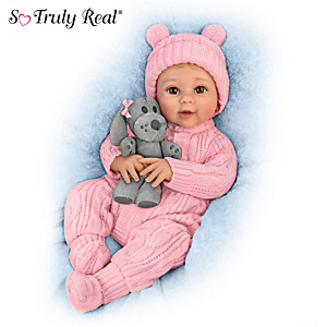 "Sherry Rawn ""Arianna"" Baby Girl Doll With Plush Puppy"