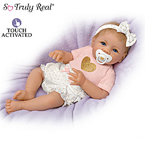 """Cooing"" Baby Girl Doll With ""Heartbeat"" By Linda Murray"