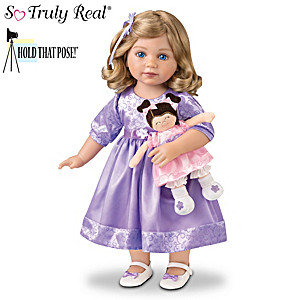 "Mayra Garza ""Natalie And Lulu"" Child Doll And Plush Doll Set"