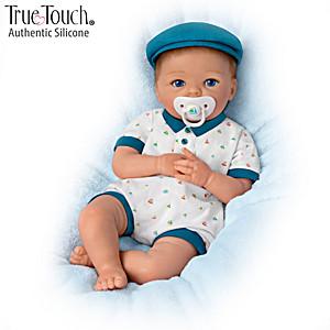 """Cheryl Hill """"Cute & Cuddly Charlie"""" Silicone Baby Boy Doll"""