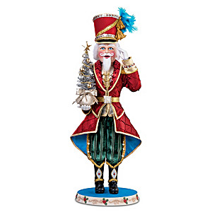 """Nikolai The Nutcracker"" Musical Doll With Glowing Tree"